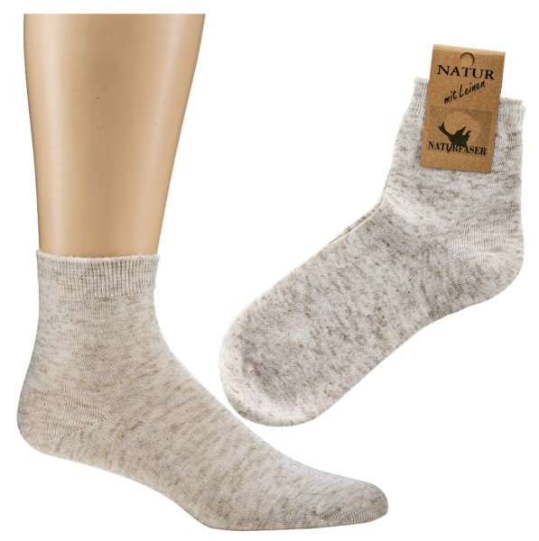 """Kurz-Socken """"Leinen"""" * 5er-Pack"""