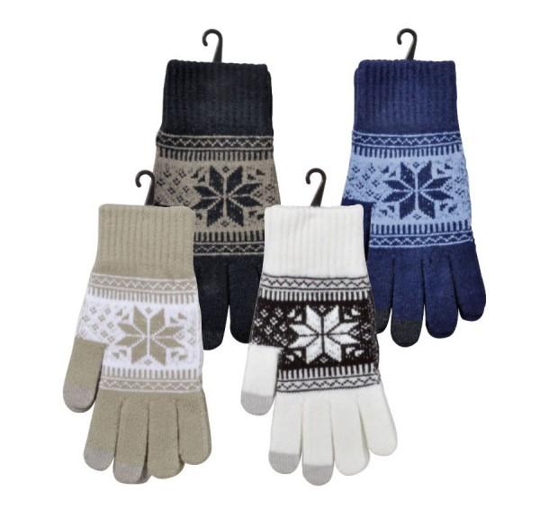 """Smartphone-Handschuhe """"Norweger-Dessin"""" *Sortiment"""