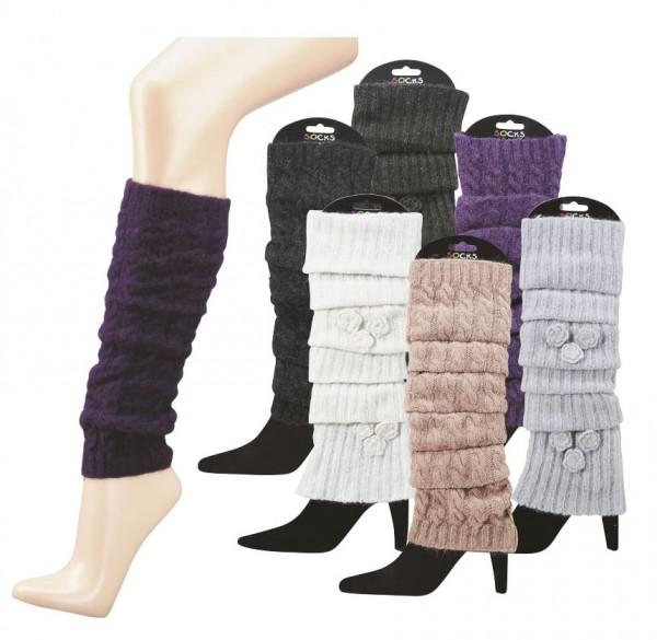 Stulpe – Legwarmers, mit Angora-Wolle * 60er Sortiment