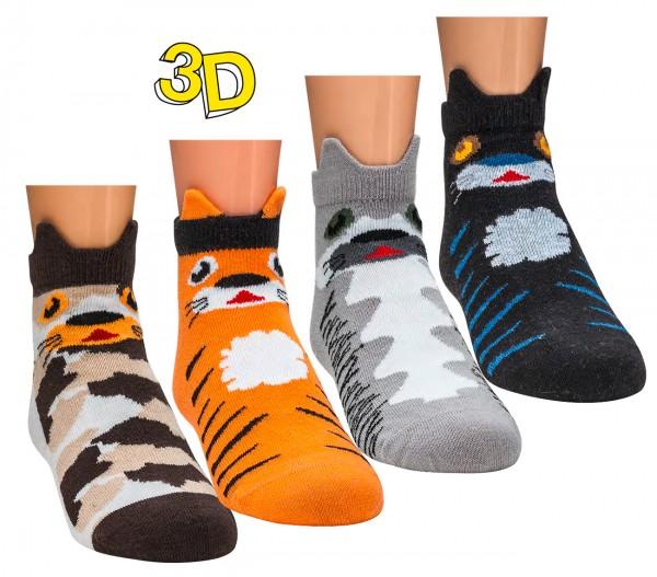 """3D-Kinder-Sneaker """"lustige Tiere"""" * 3er-Bündel"""