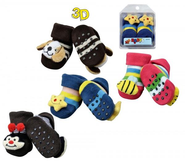 """Baby-Söckchen """"3D"""" * 60er-Sortiment"""
