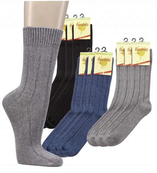Warme Socken mit Bambus * 3er-Bündel