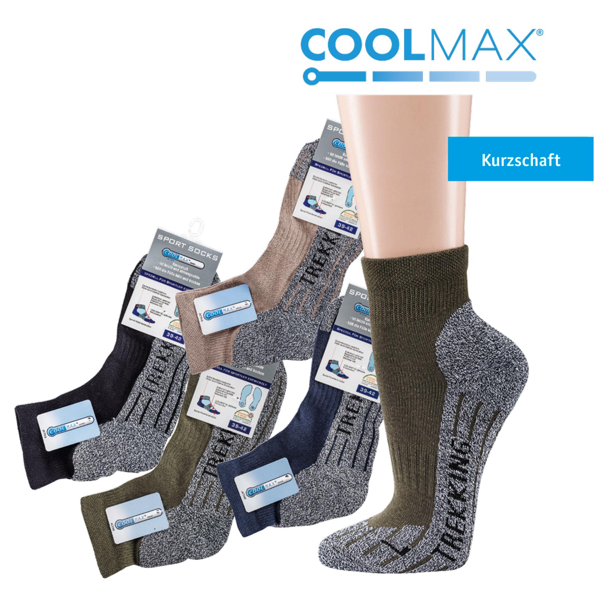 95432a43da0a69 Kurzschaft COOLMAX® Trekking-Socken