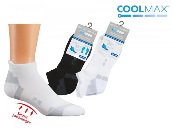 COOLMAX® Sneakers-Sport-Socken * 3er-Bündel