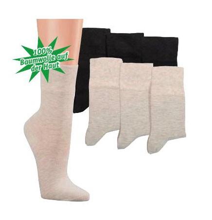 Core-Spun-Socken normallang * 3er-Bündel