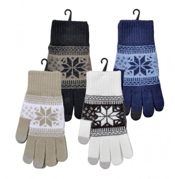 """Smartphone-Handschuhe """"Norweger-Dessin"""""""