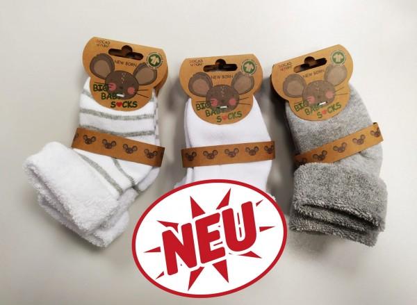 GOTS-Bio Erstlingssöckchen Vollfrottee * 2er-Bündel
