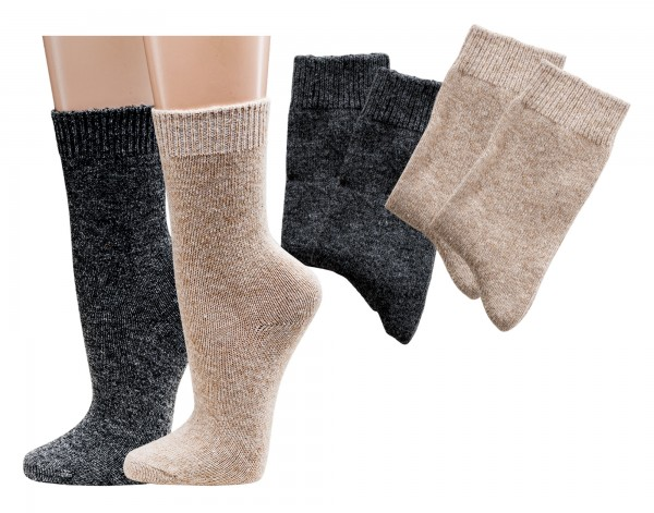 Socken mit Kaschmirwolle * 2er-Bündel