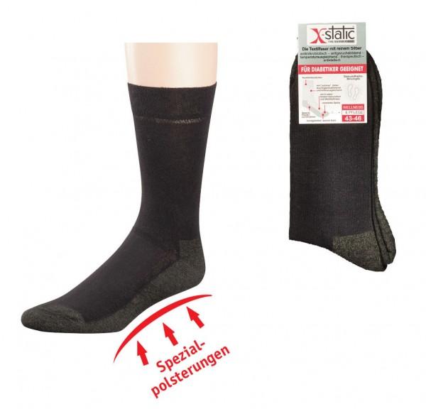 Funktions-Socken, normallang mit X-Static® * 2er-Bündel