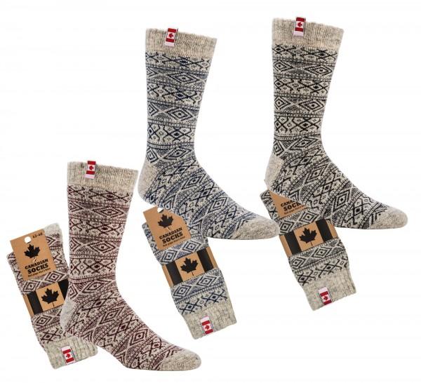 """Canadian Socks"" THERMO-Wollsocken"