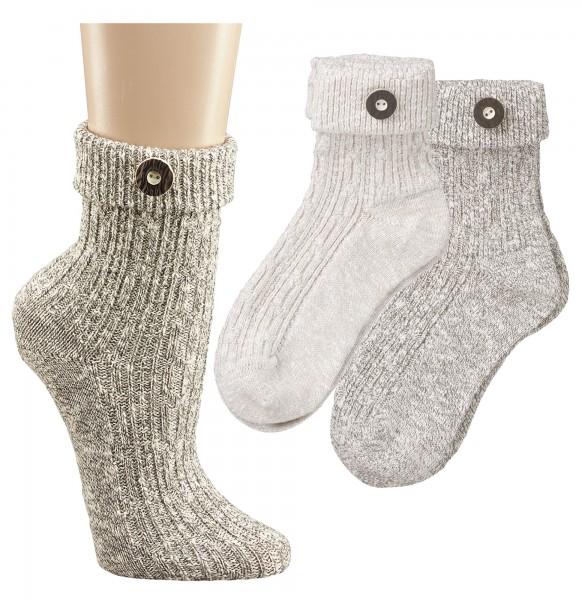 Umschlag-Socken für Damen u. Herren * 2er-Bündel