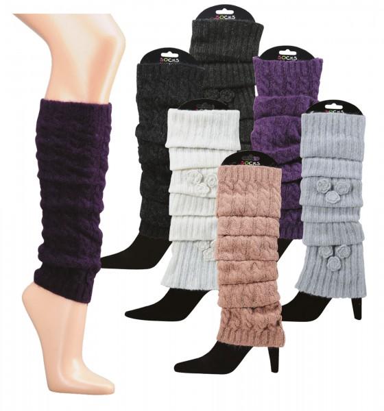Stulpe – Legwarmers, mit Angora-Wolle
