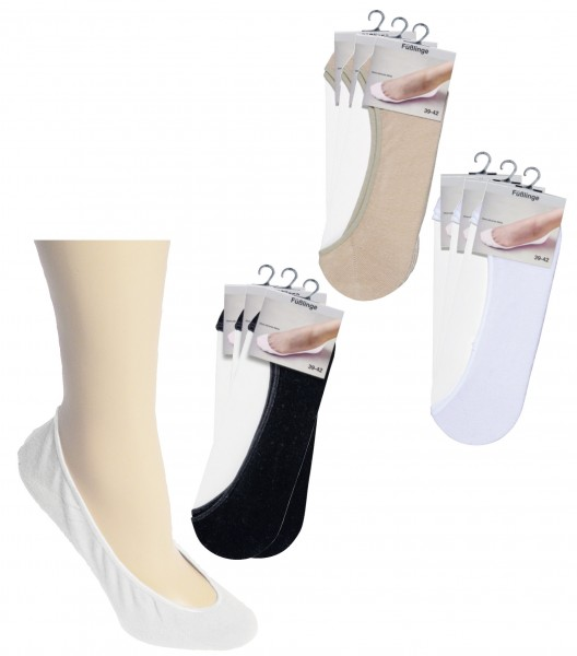 Füßlinge unsichtbar im Schuh * 60er-VE