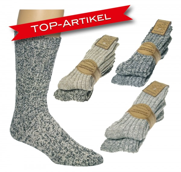 Norwegersocken * 2er-Bündel