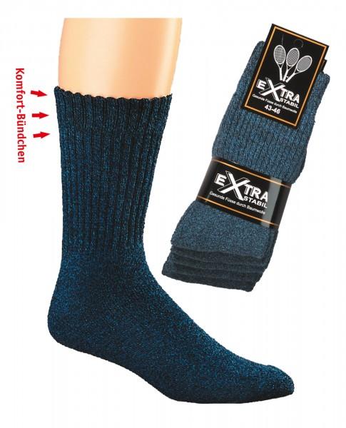 XL-Sportsocken Texas Style Jeans-mouline * 5er-Bündel