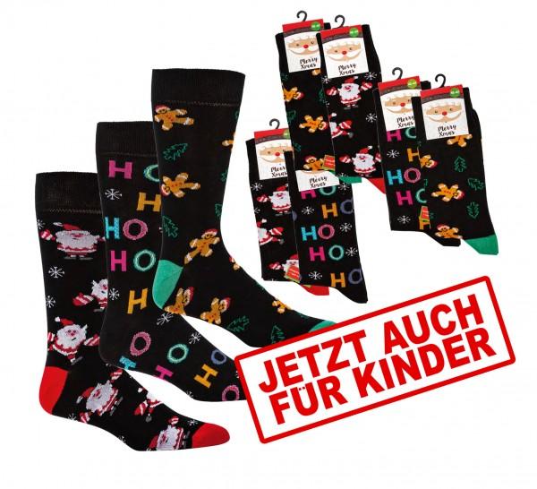 """Weihnachtssocken """"HOHOHO"""" * 2er-Bündel"""