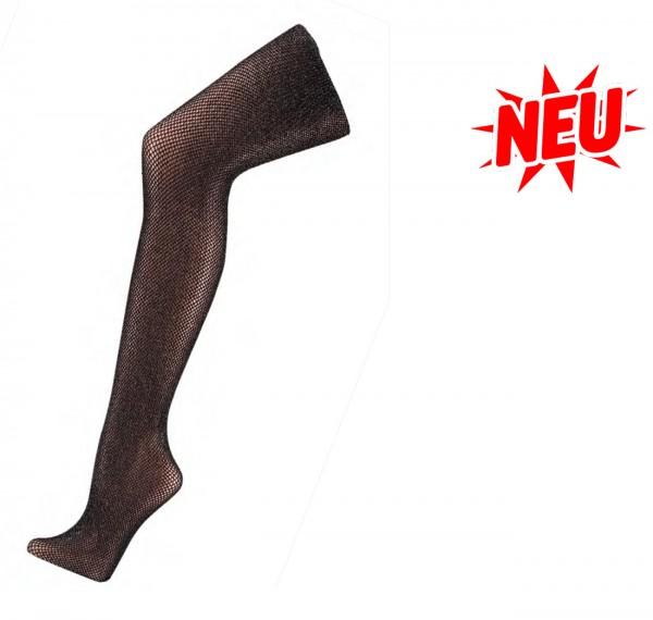 Netzstrumpfhose mit Lurex