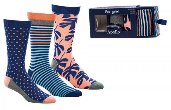 Geschenkbox Herren-Socken * 90-Paar-Sortiment