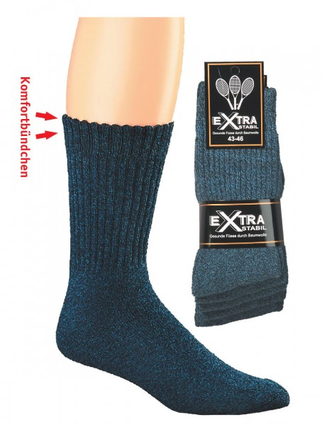 Sportsocken Texas Style Jeans-mouline * 5er-Bündel