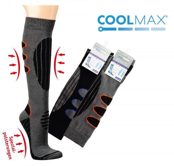 COOLMAX® gepolsterte Ski- und Funktionsstrümpfe
