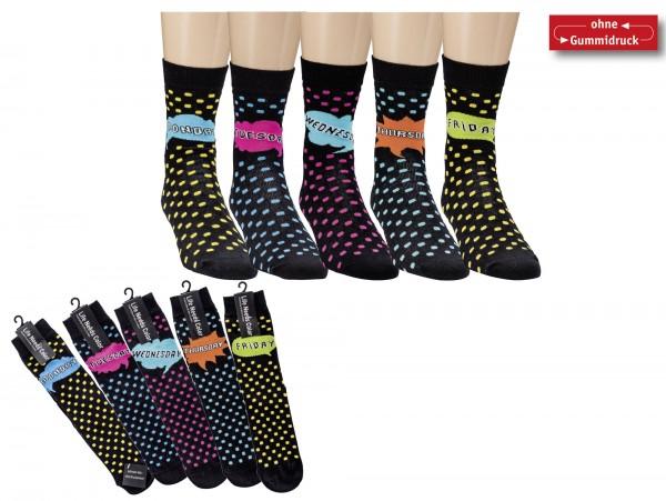 Wochentags-Socken * 5er-Bündel