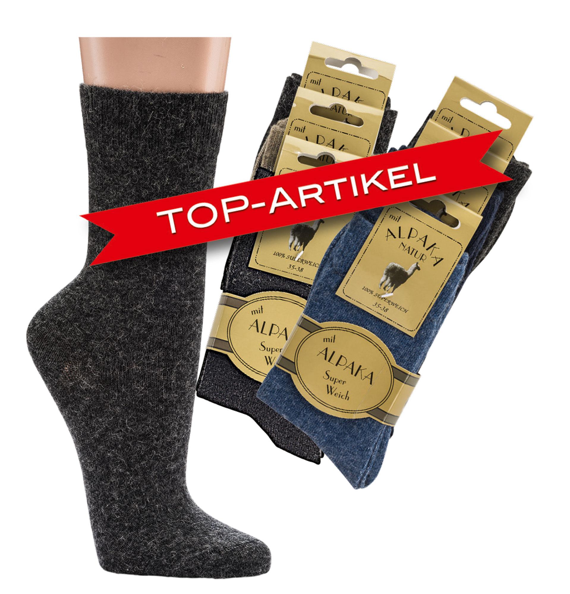 elegante Schuhe verfügbar außergewöhnliche Auswahl an Stilen und Farben Feine Wollsocken mit Alpaka * 3er-Bündel