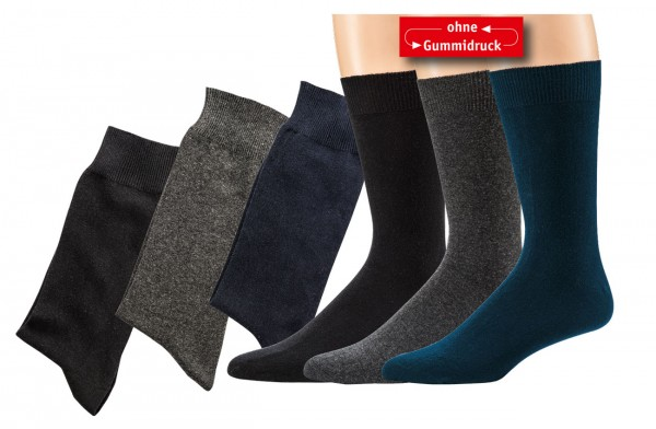 """100% Baumwolle"" Herren-Wellness-Socken * 3er-Bündel"
