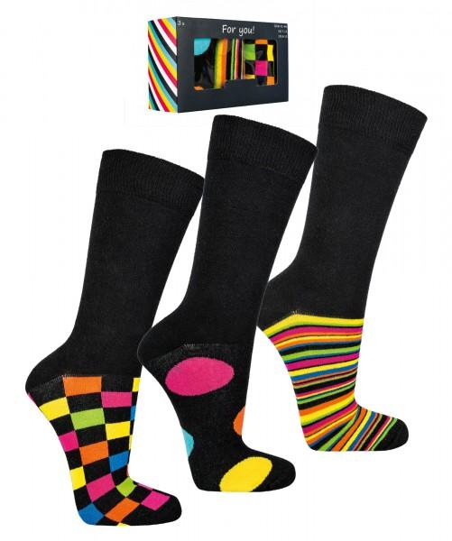 """Socken Geschenkbox Herren """"Buntes Business"""" * 3er-Box"""