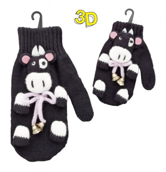"Strickhandschuhe 3D ""Kühe"""