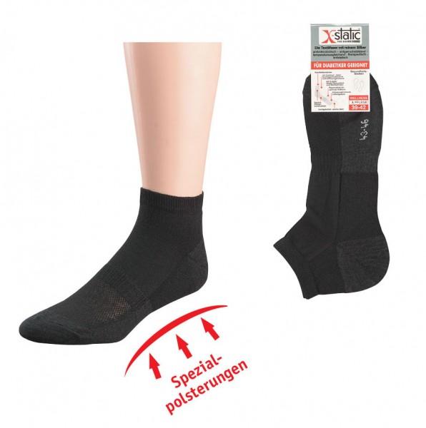Kurzschaft-Socken mit X-Static® * 2er-Bündel