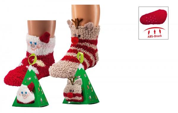 """Baby/Kleinkind 3D-Kuschelsocken """"Weihnachten"""" * 60er-Sortiment"""