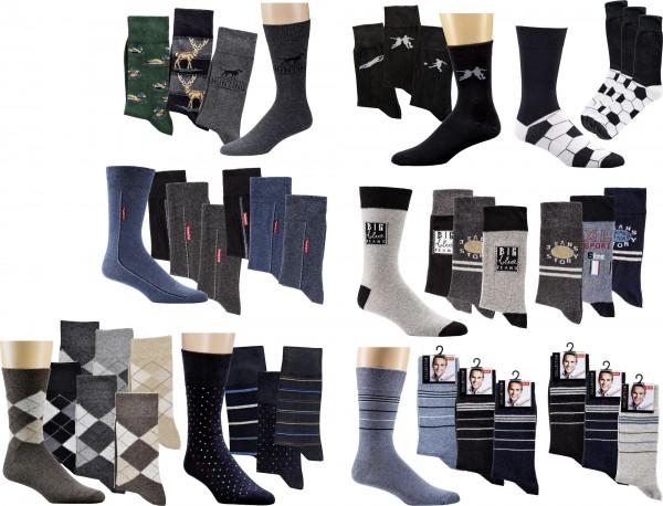 Motiv-Socken * 3er-Bündel