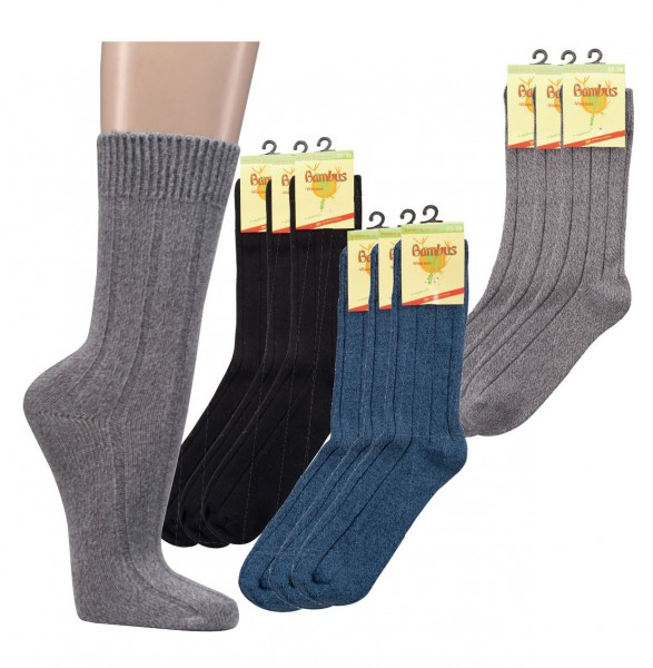 Warme Socken mit Bambus * 60er-Sortiment