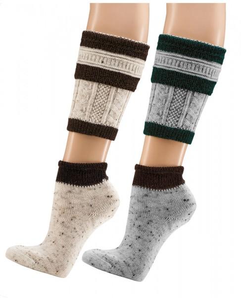 Loferl, 2tlg. = Socken + Wadenwärmer